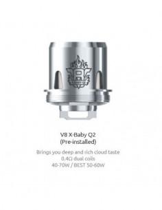 SMOK TFV8 X-Baby Coils M2/Q2/X4/T6/RBA Beast Brother