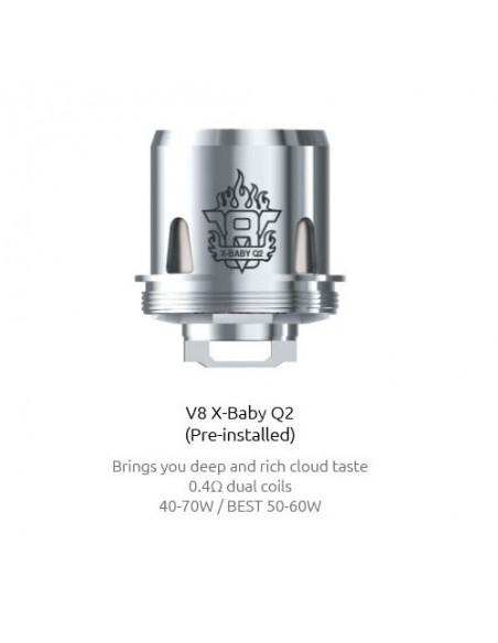 Smok X-baby coil  M2/Q2/X4/T6/RBA-Beast Brother x baby-Q2:0 0