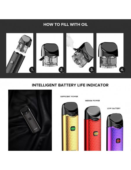 SMOK Nord Kit 1100mAh Capacity 3ml Pod + 2pcs Replacement Coil 8