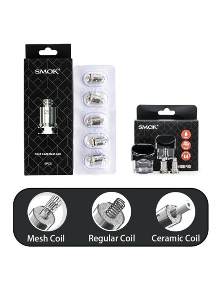 SMOK Nord Pod/Mesh Coil/Regular Coil/Ceramic Coil For Nord Kit 0