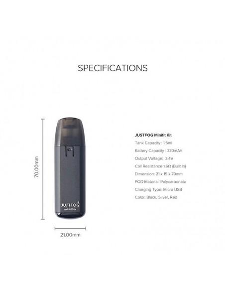 JUSTFOG Minifit Kit 370mAh AIO Pod System 1.5ml Capcity 3