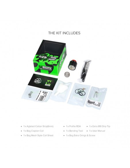 WOTOFO Profile 24mm Mesh RDA With Mesh Style Coil 1