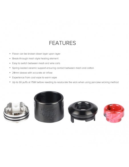 WOTOFO Profile 24mm Mesh RDA With Mesh Style Coil 4