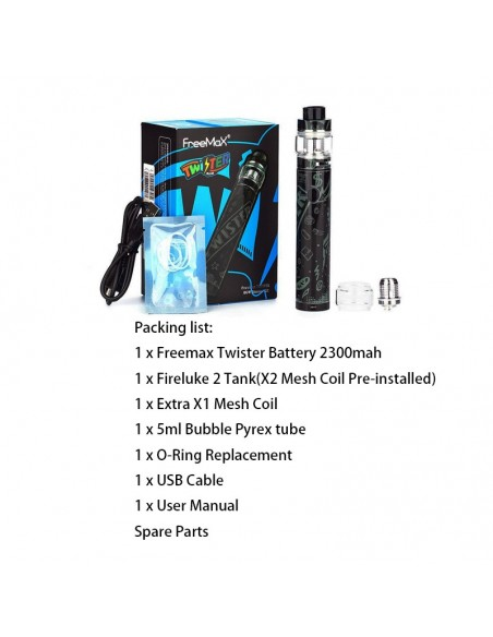 FREEMAX Twister 80W Kit 2300mAh With 5ml Fireluke 2 Tank 1