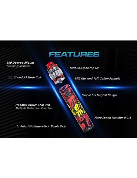 FREEMAX Twister 80W Kit 2300mAh With 5ml Fireluke 2 Tank 3