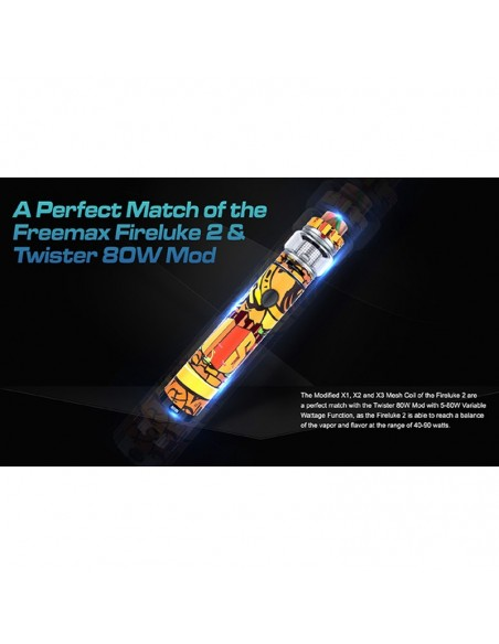 FREEMAX Twister 80W Kit 2300mAh With 5ml Fireluke 2 Tank 6