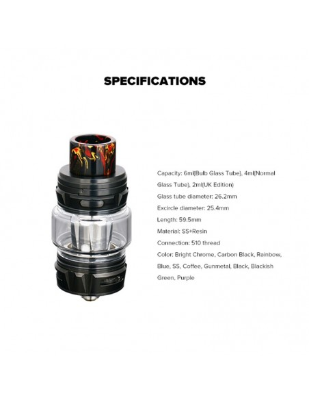 HORIZONTECH Falcon King Bulb Tank 6ml Included M1+ Coil/M-Dual Coil 3