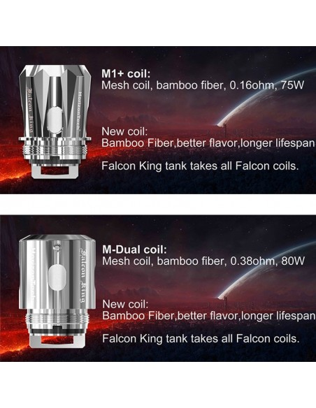 HORIZONTECH Falcon King Bulb Tank 6ml Included M1+ Coil/M-Dual Coil 7