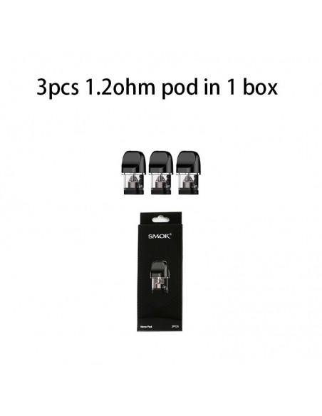 SMOK Novo Replacement Pod 1.2ohm/1.5ohm/Ceramic/Mesh 3pcs/Pack Novo 1.2ohm Pod - 3pcs:0 US