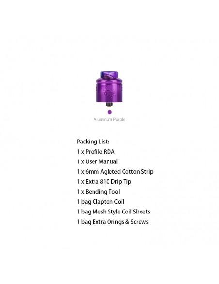 WOTOFO Profile 24mm Mesh RDA With Mesh Style Coil Aluminum Purple RDA:0 US