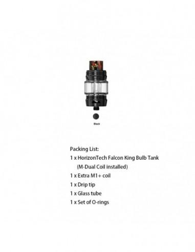 HORIZONTECH Falcon King Bulb Tank 6ml Included M1+ Coil/M-Dual Coil Black Tank:0 US