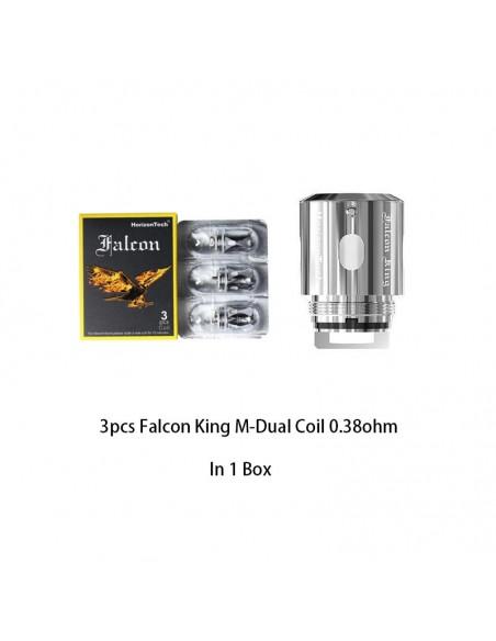 HORIZONTECH Falcon King Bulb Tank 6ml Included M1+ Coil/M-Dual Coil Falcon King M-Dual Coil 0.38ohm 3pcs:0 US