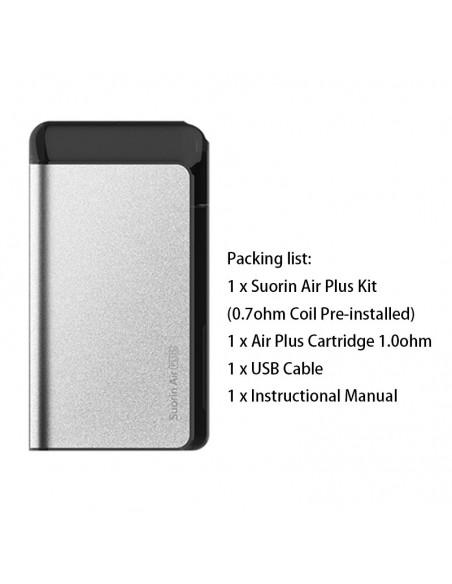 Suorin Air Plus Kit 900mAh & 3.5ml Pod System Silver Kit 1pcs:0 US