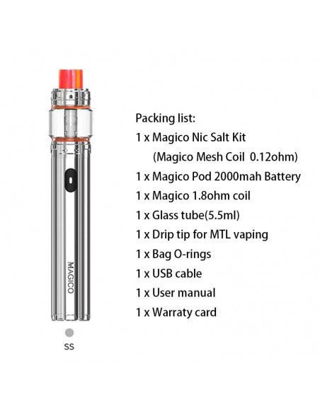 HorizonTech Magico Nic-Salt Stick Starter Kit 5.5ml&2000mAh SS Kit 1pcs:0 US