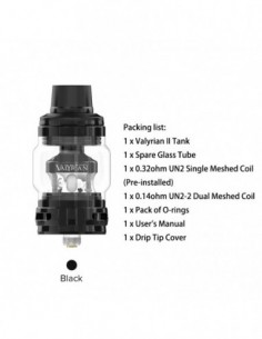 Uwell Valyrian 2, Valyrian II, Valyrian Ⅱ Sub Ohm Tank & Mesh Coil