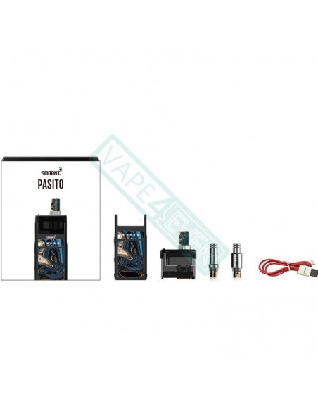 Smoant Pasito Rebuildable Pod System Box Mod Kit 1100mAh 1