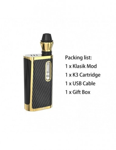 Kangvape Klasik Kit: 510 Thread CBD Vape Box Mod 650mah Gold Kit 1pcs:0 US