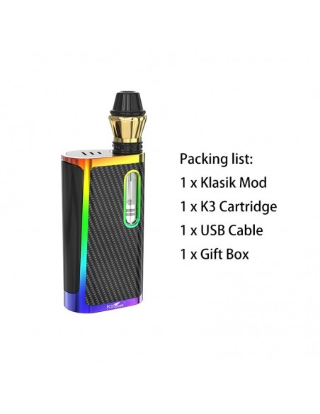 Kangvape Klasik Kit: 510 Thread CBD Vape Box Mod 650mah Rainbow Kit 1pcs:0 US