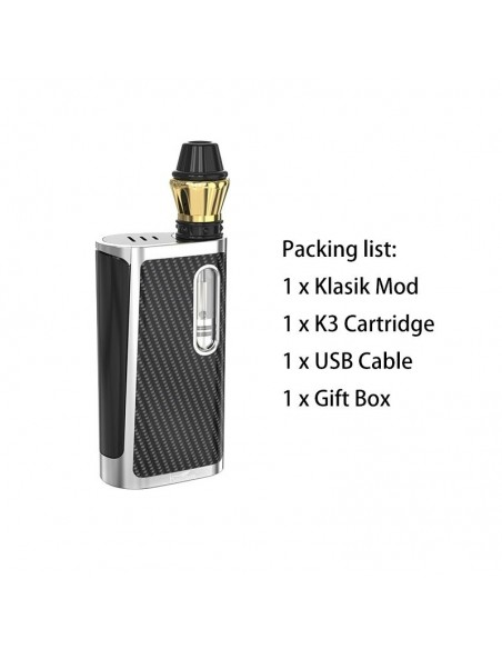 kangvape klasik kit  510 thread cbd vape box mod 650mah