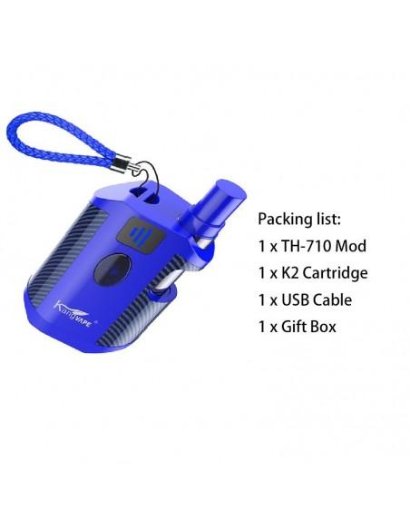 Kangvape TH-710 Vape Box Mod Kit: 510 Thread CBD Vaporizer 650mah Blue Kit 1pcs:0 US