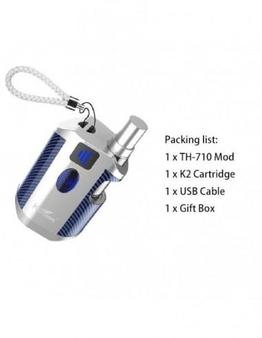 Kangvape TH-710 Vape Box Mod Kit: 510 Thread CBD Vaporizer 650mah Silver Kit 1pcs:0 US