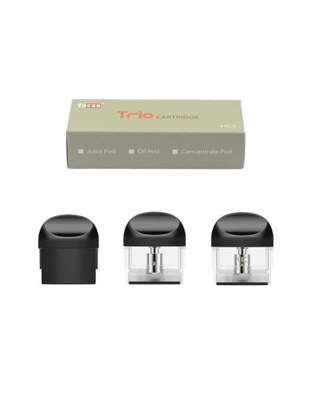 Yocan Trio Replacement Pods 4pcs Cartridge 0