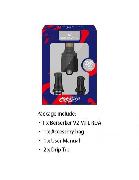 Vandy Vape Berserker V2 MTL RDA 22mm & 1.5ml 1