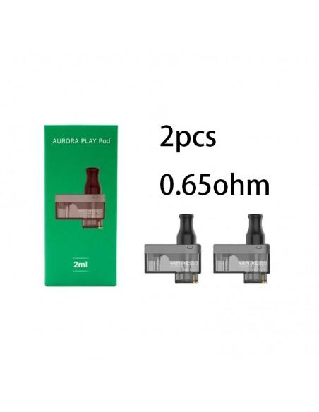 Vaporesso Aurora Play Replacement Pods 2pcs Cartridge 0.65ohm Pod Cartridge 2pcs:0 US