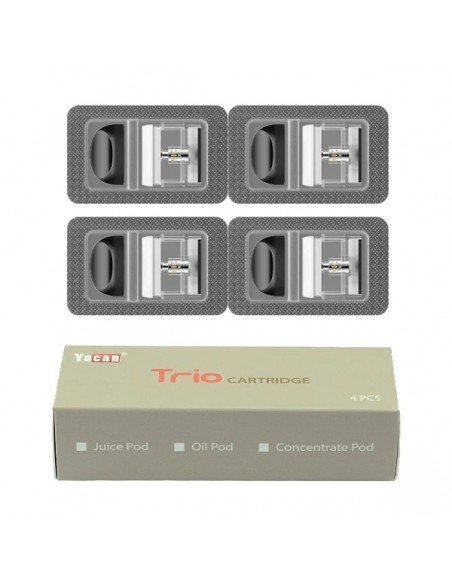 Yocan Trio Replacement Pods 4pcs Cartridge E-juice Pod 4pcs:0 US