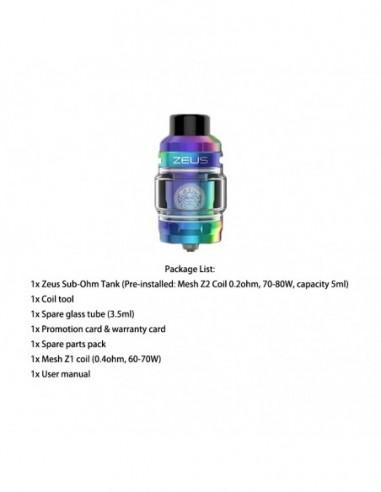 Geekvape Zeus Sub Ohm Tank Rainbow Tank 1pcs:0 US