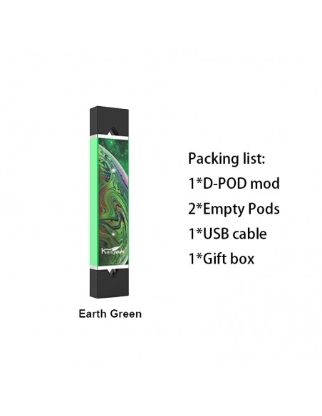 Kangvape D-pod V2 Kit 400mAh V/V Battery Earth Green Kit 1pcs:0 US