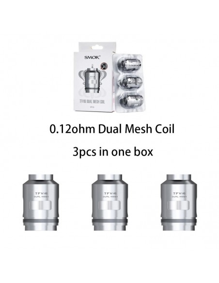 SMOK TFV16 Mesh Coils 0.12ohm Dual Mesh Coil 3pcs:0 US
