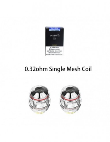UWELL Valyrian 2 Coils 0.32ohm Single Mesh Coil 2pcs:0 US
