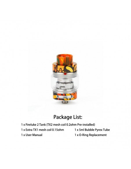 Freemax Fireluke 2 Sub-Ohm Tank Graffiti Orange Tank 1pcs:0 US