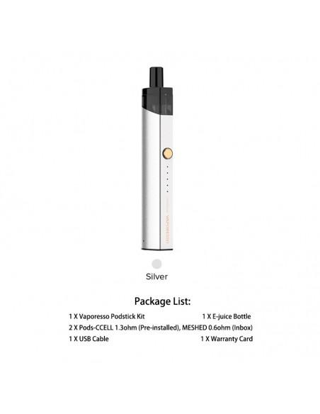 Vaporesso PodStick Pod Kit Silver Kit 1pcs:0 US