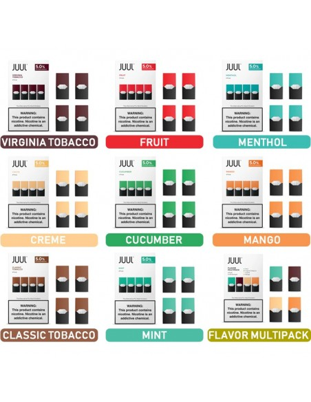 JUUL Pod Flavors 1
