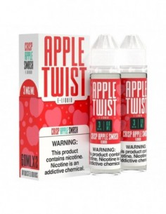 Apple Twist Vape Juice - Crisp Apple Smash 0