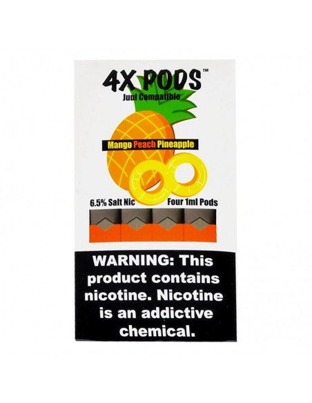 Mango Peach Pineapple - 4X Pods Juul Compatible 6.5% 4pcs:0 US
