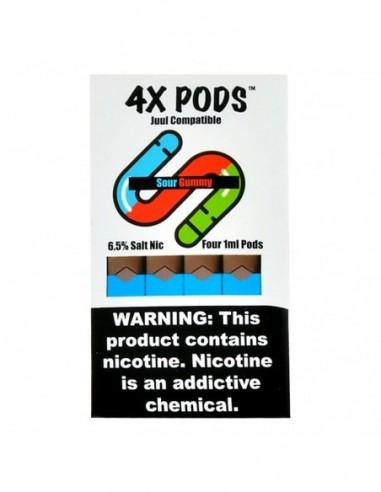 Sour Gummy Worm - 4X Pods Juul Compatible 6.5% 4pcs:0 US