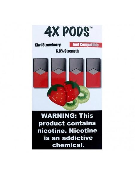 Kiwi Strawberry - 4X Pods Juul Compatible 6.8% 4pcs:0 US