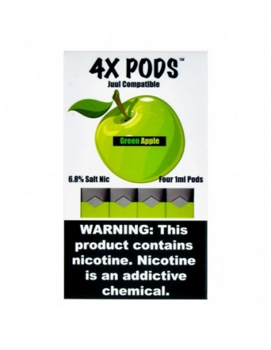 Green Apple - 4X Pods Juul Compatible 6.8% 4pcs:0 US