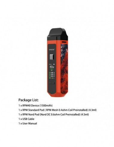 Smok RPM40 Kit Orange Kit 1pcs:0 US