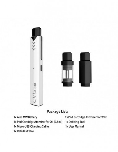 Airistech Airis MW Vape Pen For Wax/Oil White Kit 1pcs:0 US
