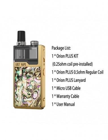 Lost Vape Orion Plus DNA Pod Kit Gold Gold Abalone kit 1pcs:0 US