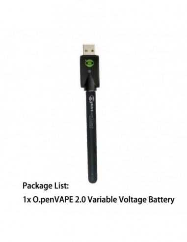 O.Pen Vape 2.0 Variable Voltage Battery Black Battery 1pcs:0 US