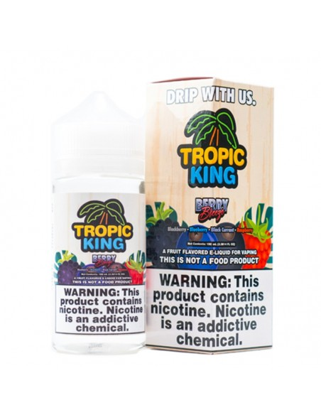 Tropic King E-liquids 100ml Collection Berry Breeze 0mg:0 US