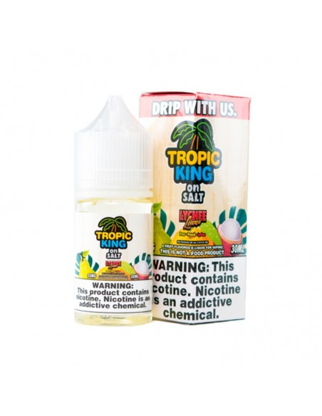 Tropic King On Salt E-juice 30ml Collection Lychee Luau 35mg:0 US