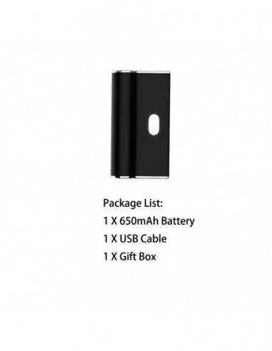 Airistech Airis Janus Battery For 510 Thread/Juul Pods Black Mod 1pcs:0 US