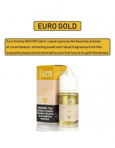 NAKED 100 Salt E-Liquid 30mL Collection Euro Gold 35mg:0 US