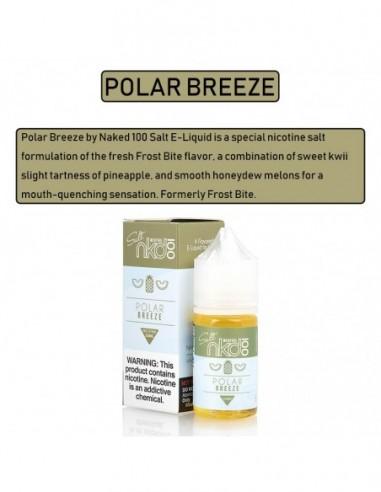 NAKED 100 Salt E-Liquid 30mL Collection Polar Breeze 35mg:0 US